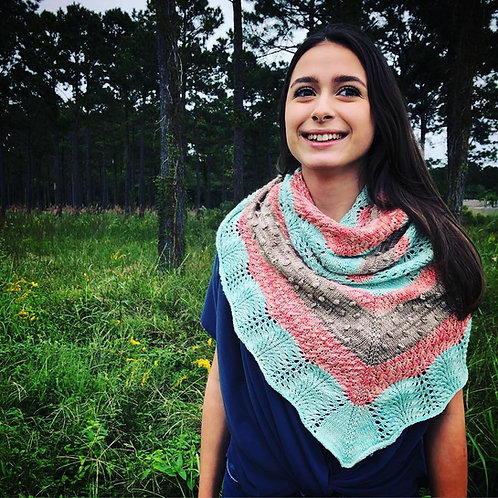 Landscapes Shawl Digital knitting Pattern Intermediate