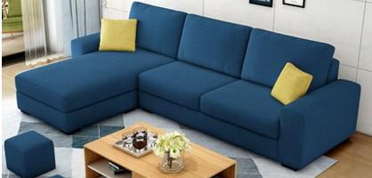 Modern Minimal Fabric L-Shape Sofa | nadraglobal