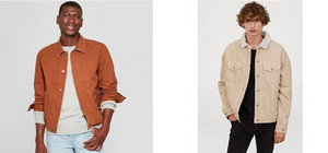 Other Color Trucker Jacket with Model 1