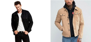 Other Color Trucker Jacket with Model 2