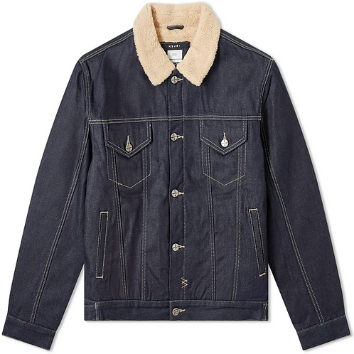Ksubi Oh G Fleece Collar Trucker Jacket