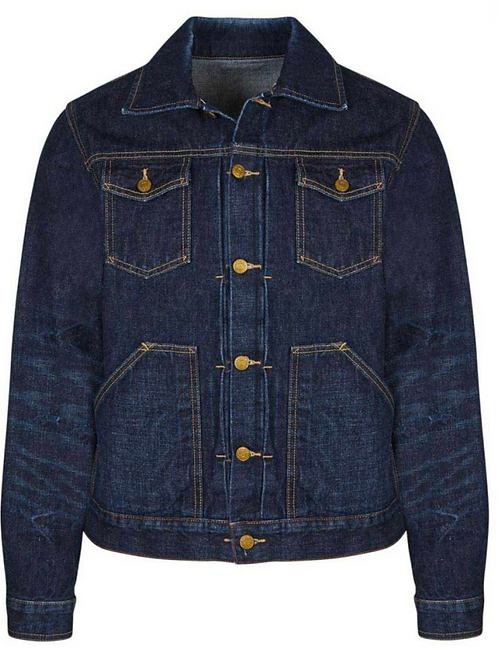 The Workers Club - Dark Blue Denim Trucker Jacket