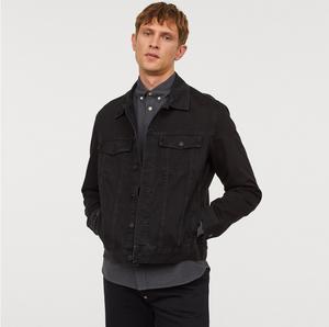 Model Black Trucker Jacket