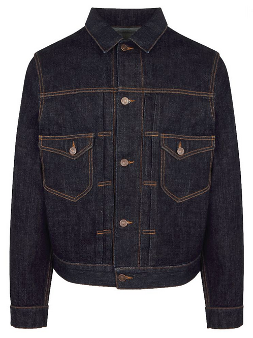 Fortela - Blue Dark Rinse Denim Nevada Trucker Jacket