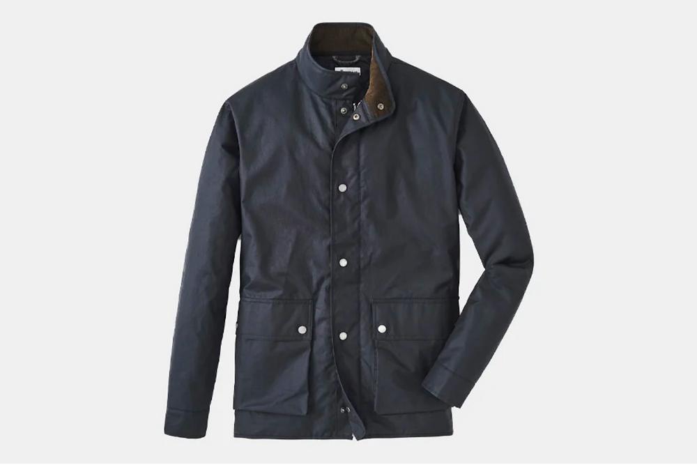 Peter Millar Crown Vintage Waxed Cotton Field Jacket