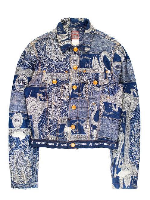 Jean Paul Gaultier AW1994 Jacquard Tattoo Trucker Jacket