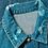 Thumbnail: Balmain Taped Logo Distressed Denim Trucker Jacket