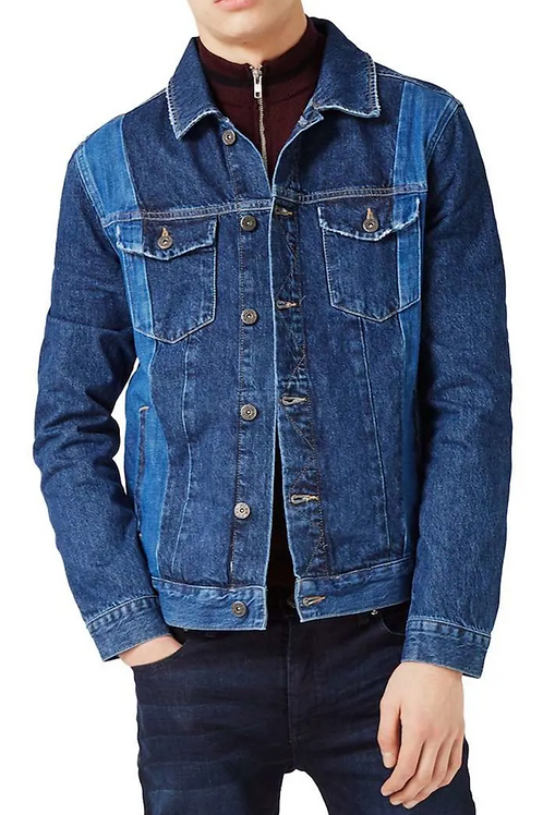 Topman Two Tone Trucker Jacket