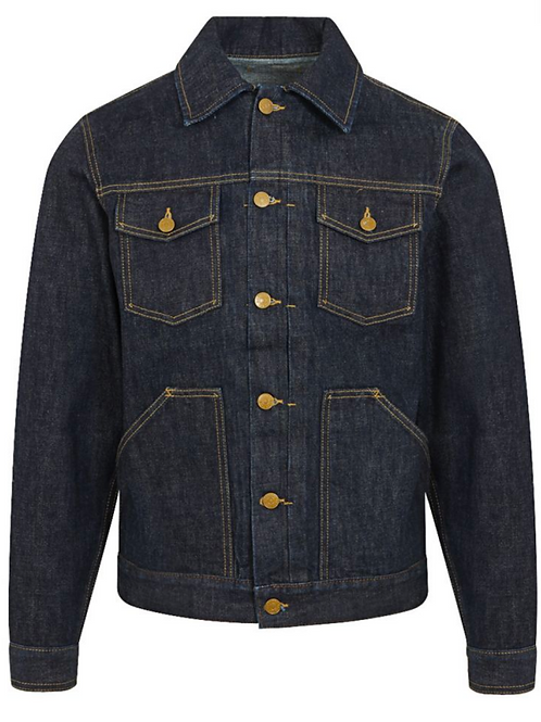 The Workers Club - Navy Japanese Selvedge Denim Trucker Jacket