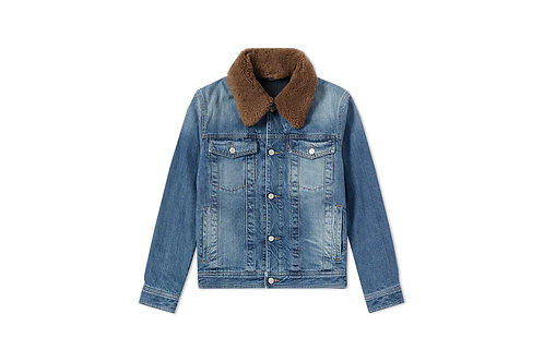AMI Wool Collar Trucker Jacket