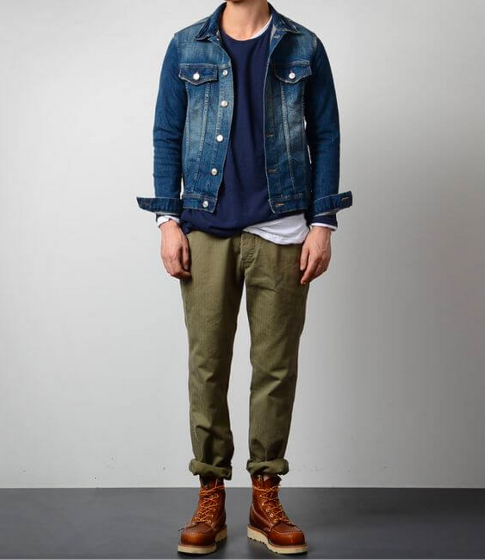 Trucker Jacket with Chinos