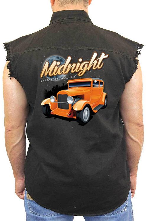 Men's Sleeveless Denim Shirt Midnight Immortality Hot Rod Denim Vest