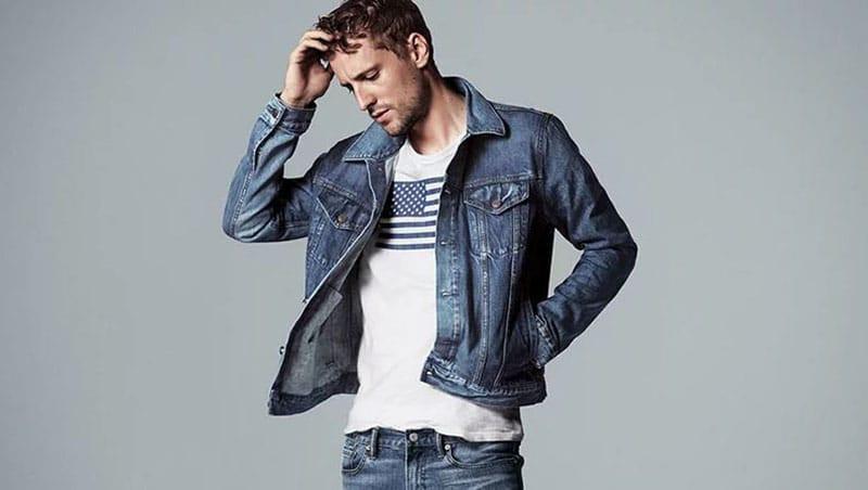 Model in Trucker Jacket