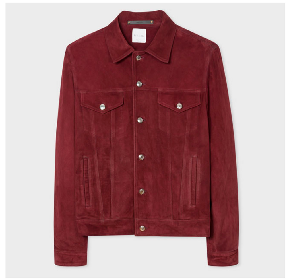 Paul Smith Suede Trucker Jacket