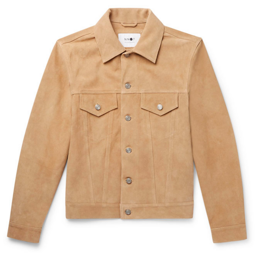 Noah Suede Trucker Jacket
