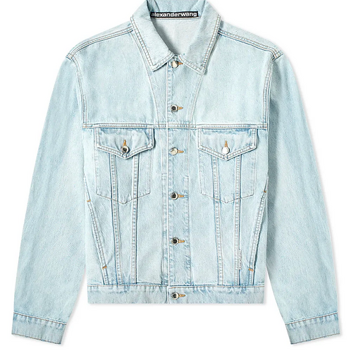 Alexander Wang Bleach Wash Denim Trucker Jacket