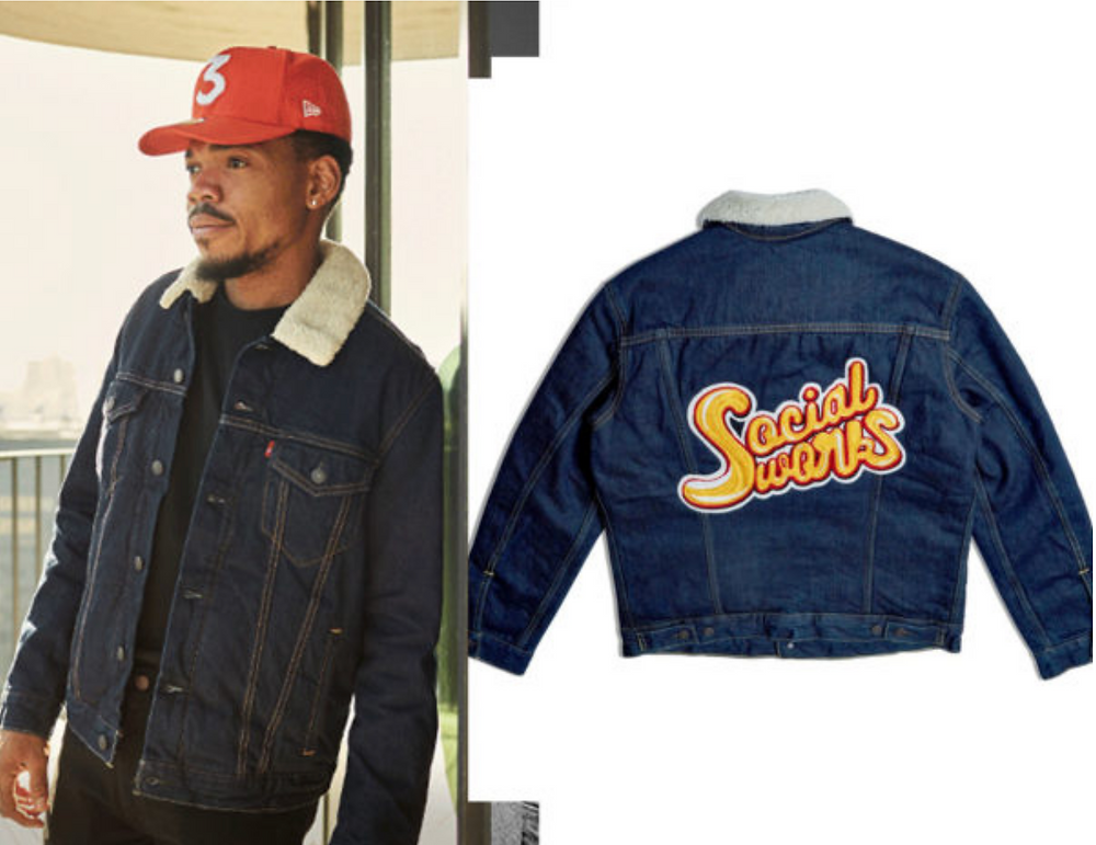 Rapper Chance Trucker Jacket