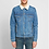 Thumbnail: Balmain Shearling Denim Trucker Jacket