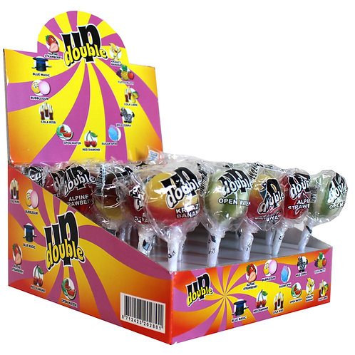 Double Up Lollipops displ 30pcs