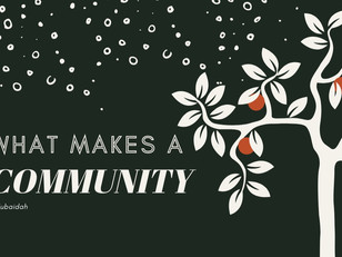 What Makes A Community