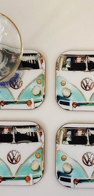 Art Coaster Camper Van x 4