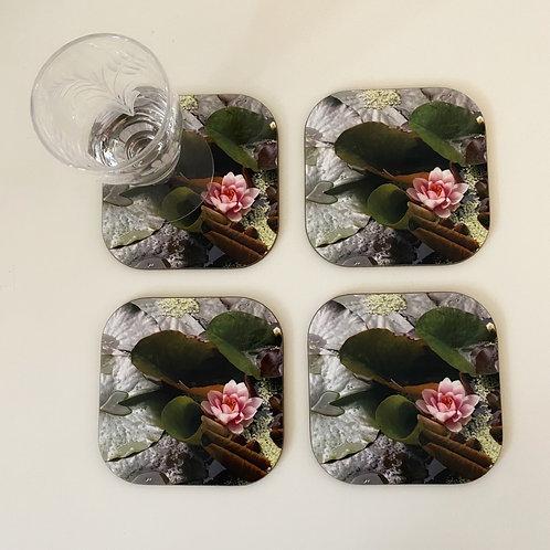 Lily coaster x 4