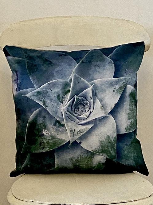 Botanical range cushion Sempervivum Vegan suede