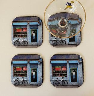Marcellas  shop front coasters x 4