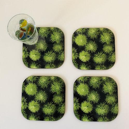 Chrysanthemum coaster x 4