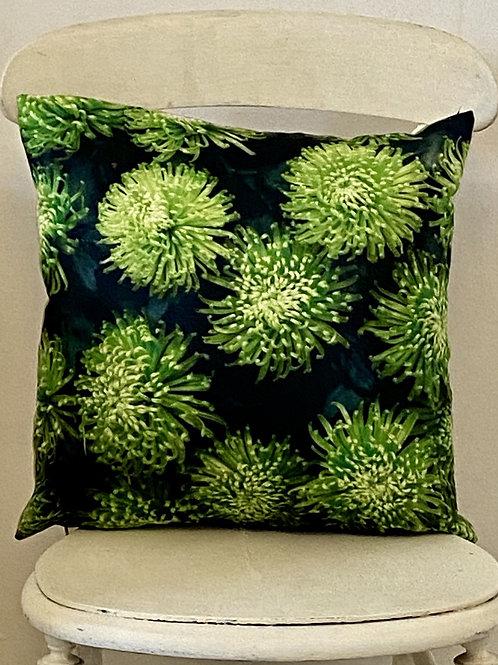 Botanical range cushion Chrysanthemum Vegan suede