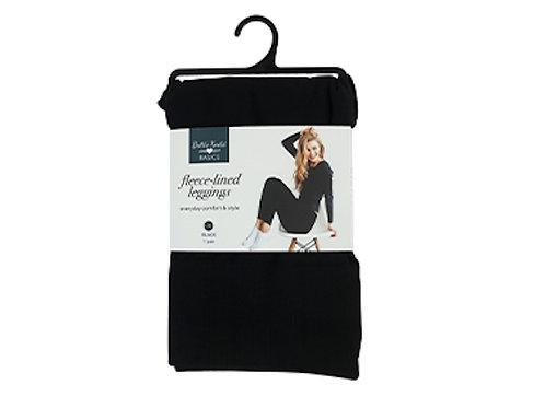 Fleece Lined Legging Solid Black