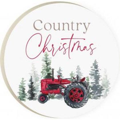 Country Christmas Coaster