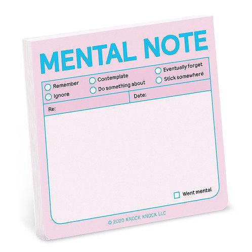 Mental Note Sticky Notes