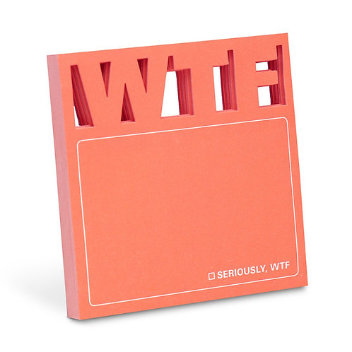 WTF Die Cut Sticky Notes