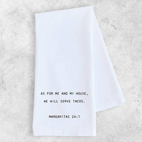 Margaritas 24:7 Tea Towel