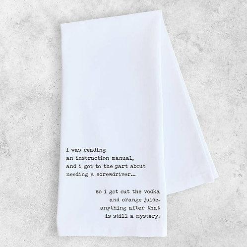 Instruction Manual Tea Towel