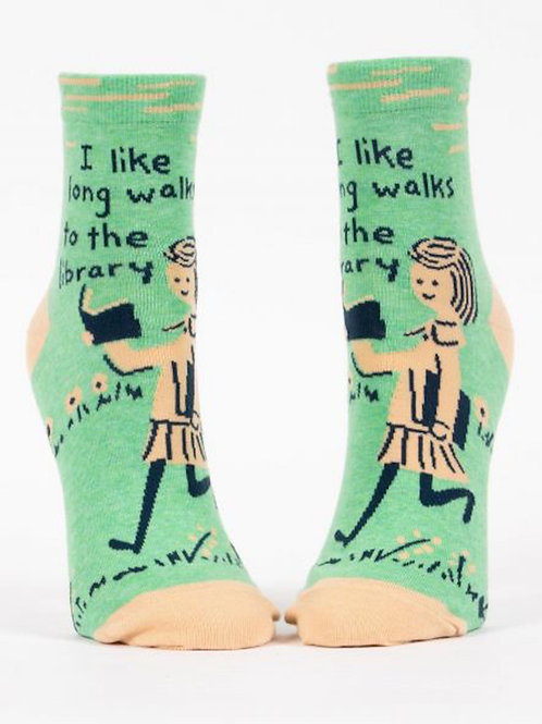 Long Walks to the Library Socks