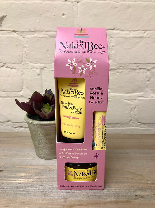 Naked BeeVanilla Rose & Honey Collection