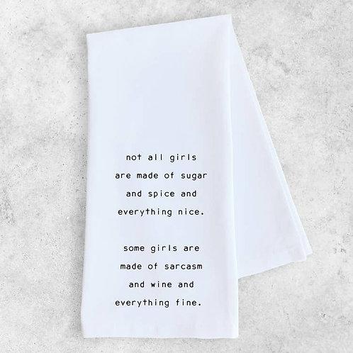 Sarcasm and Wine Tea Towel