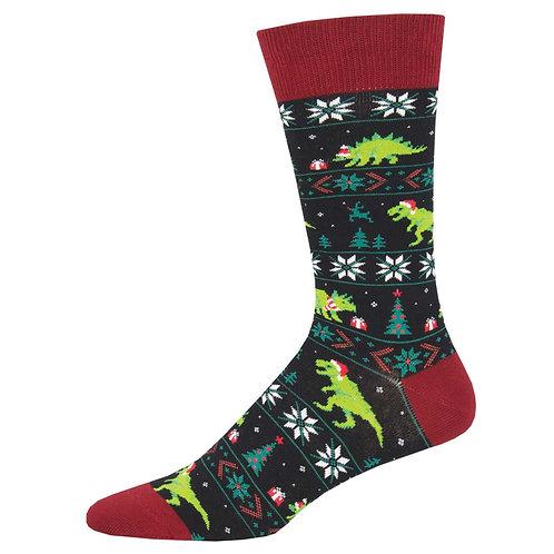 Santasaurus Rex Socks