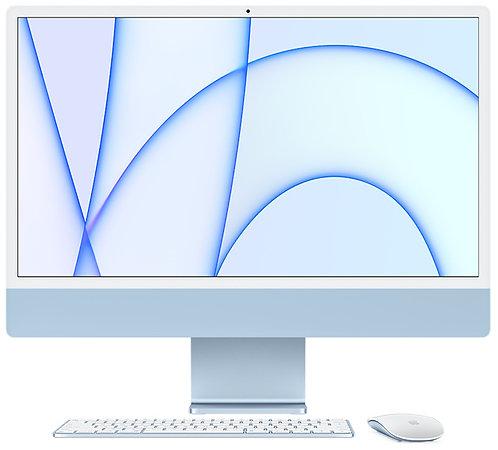 """iMac 24"""" 8GB, Apple M1 8-Core CPU & 8-Core GPU, 256 GB, Blau"""