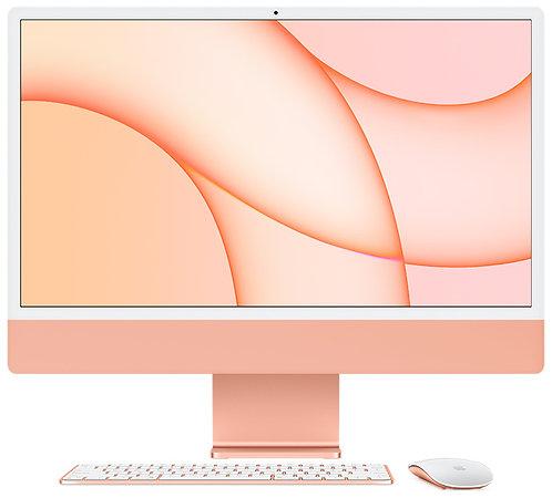 """iMac 24"""" 8GB, Apple M1 8-Core CPU & 8-Core GPU, 256 GB, Orange"""