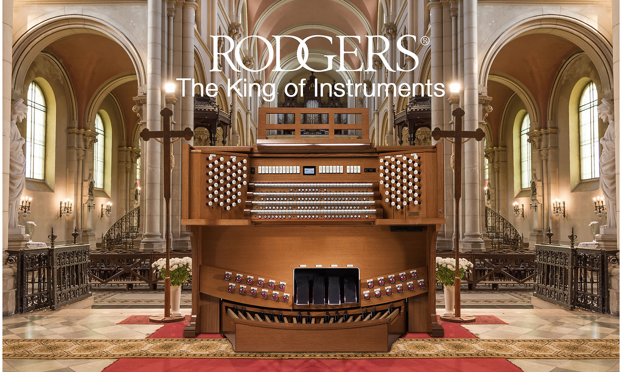 We carry many major home and church organ brands like Rodgers, Johannas, Makin, and Copeman Hart.