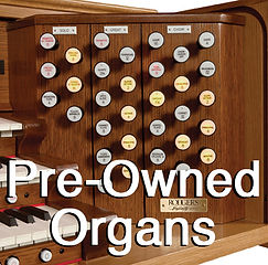 We carry many ued church and home organs for great prices!