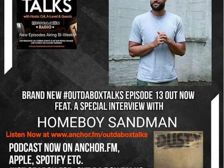 Out Da Box Talks Episode 13 (Homeboy Sandman Interview)