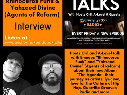 Out Da Box Talks Episode 84 -Rhinoceros Funk & Yahzeed Divine (AOR Interview)