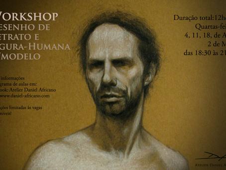 Workshop de Desenho de Retrato e Figura-Humana c/modelo