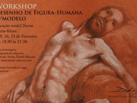 Workshop de Desenho de Figura-Humana c/modelo