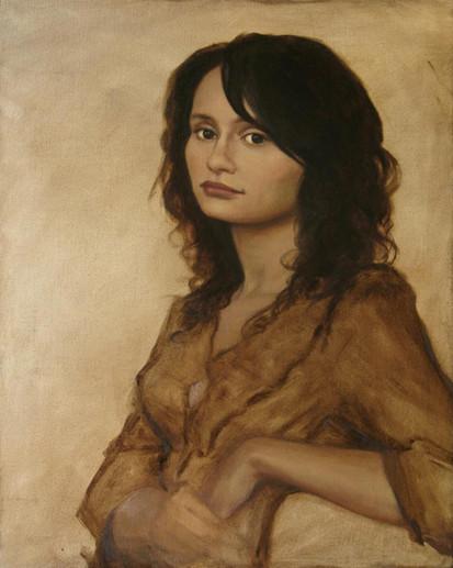 Retrato c/modelo 50x60cm óleo sobre tela 2012
