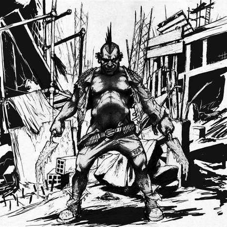 Cover Art para o album de RDB desenho grafite/digital